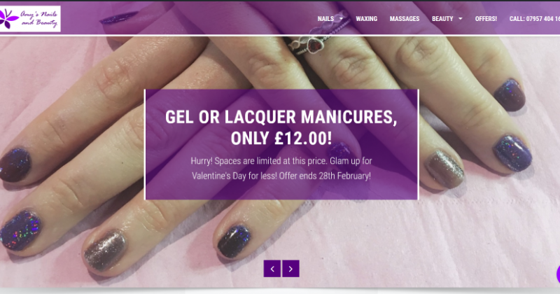 Amy's Nails and Beauty website now live!